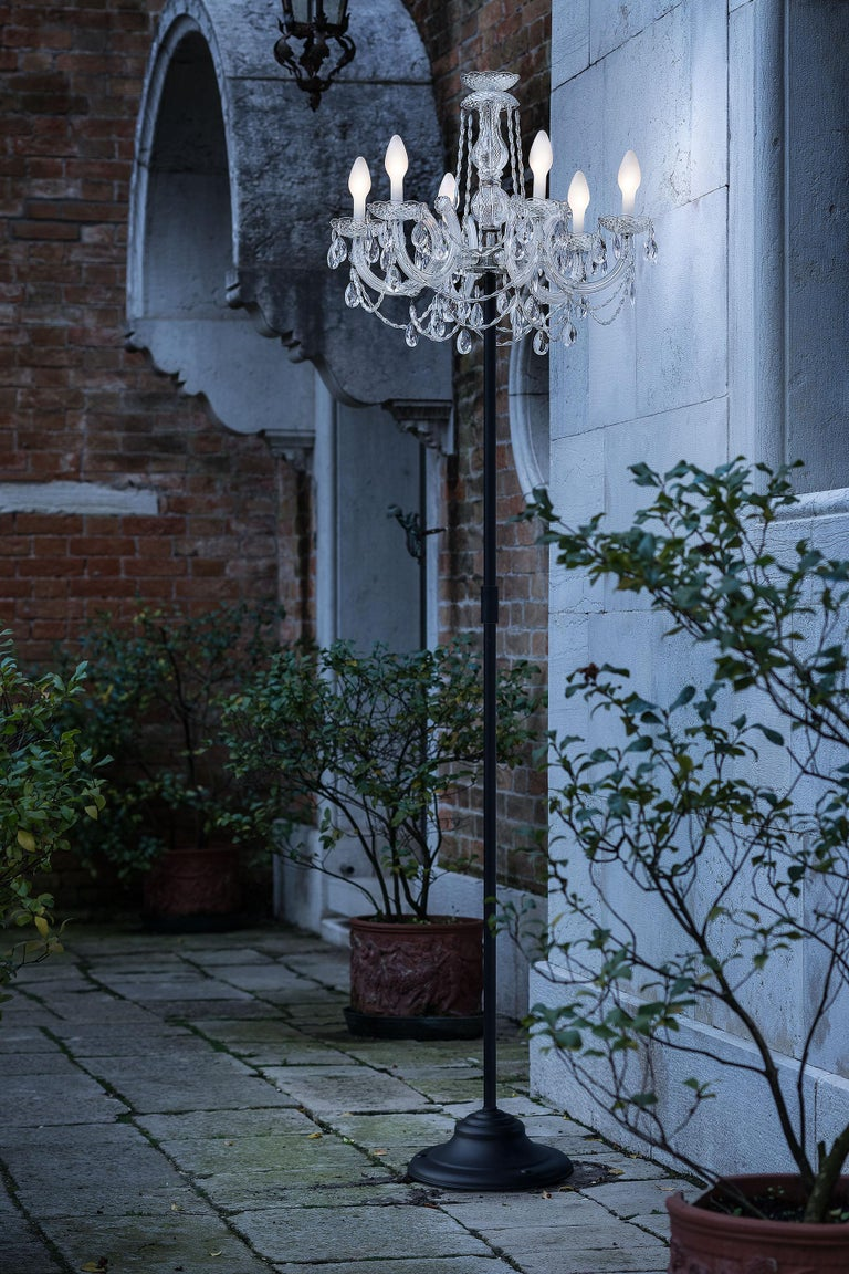 Outdoor Venetian Floor Lamp 6 Lights, Made in Italy In New Condition For Sale In Beverly Hills, CA