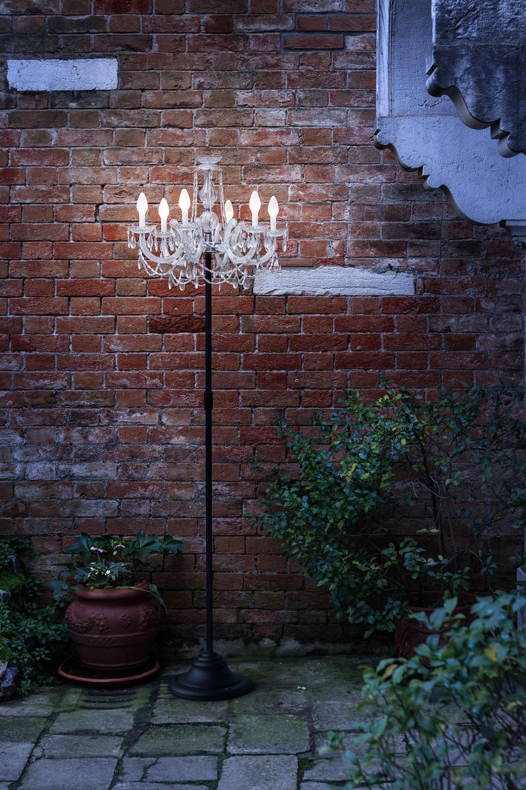 Contemporary Outdoor Venetian Floor Lamp 6 Lights, Made in Italy For Sale