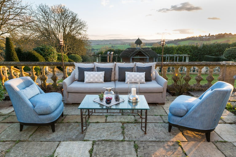 English Outdoor Verdons Sofa by Coco Wolf For Sale