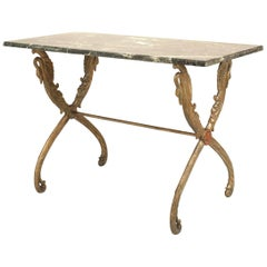 Outdoor Victorian Painted Iron Centre Table