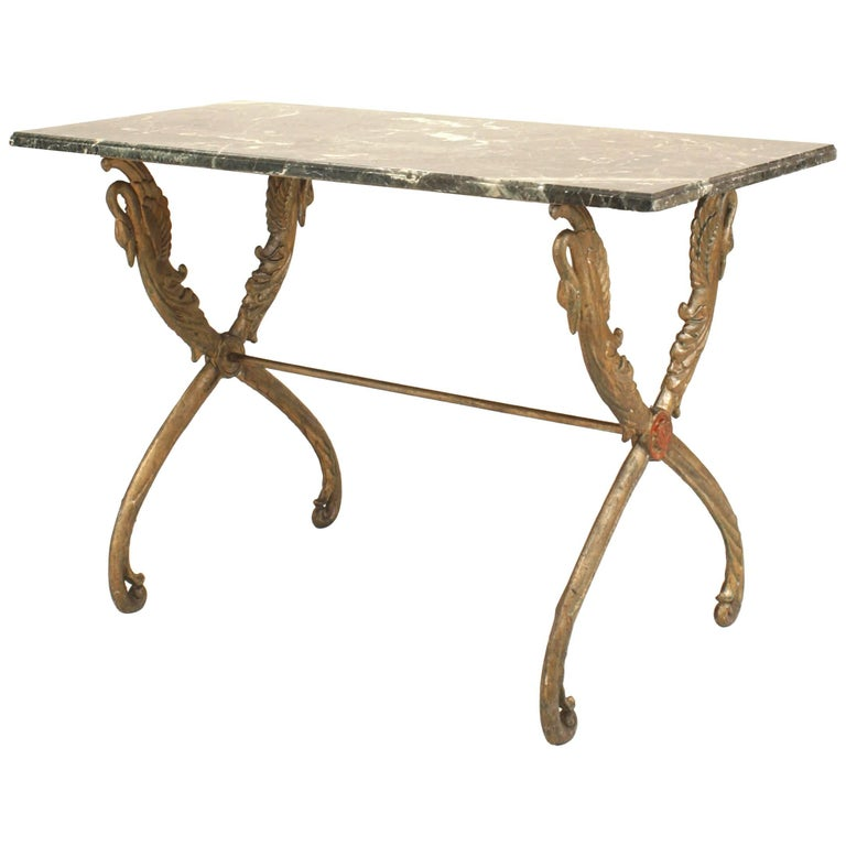 Outdoor Victorian Table: Outdoor Victorian Painted Iron Centre Table For Sale At