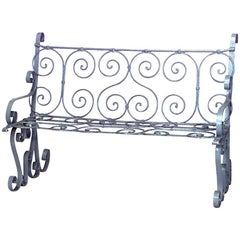 Outdoor Victorian Painted Iron Loveseat