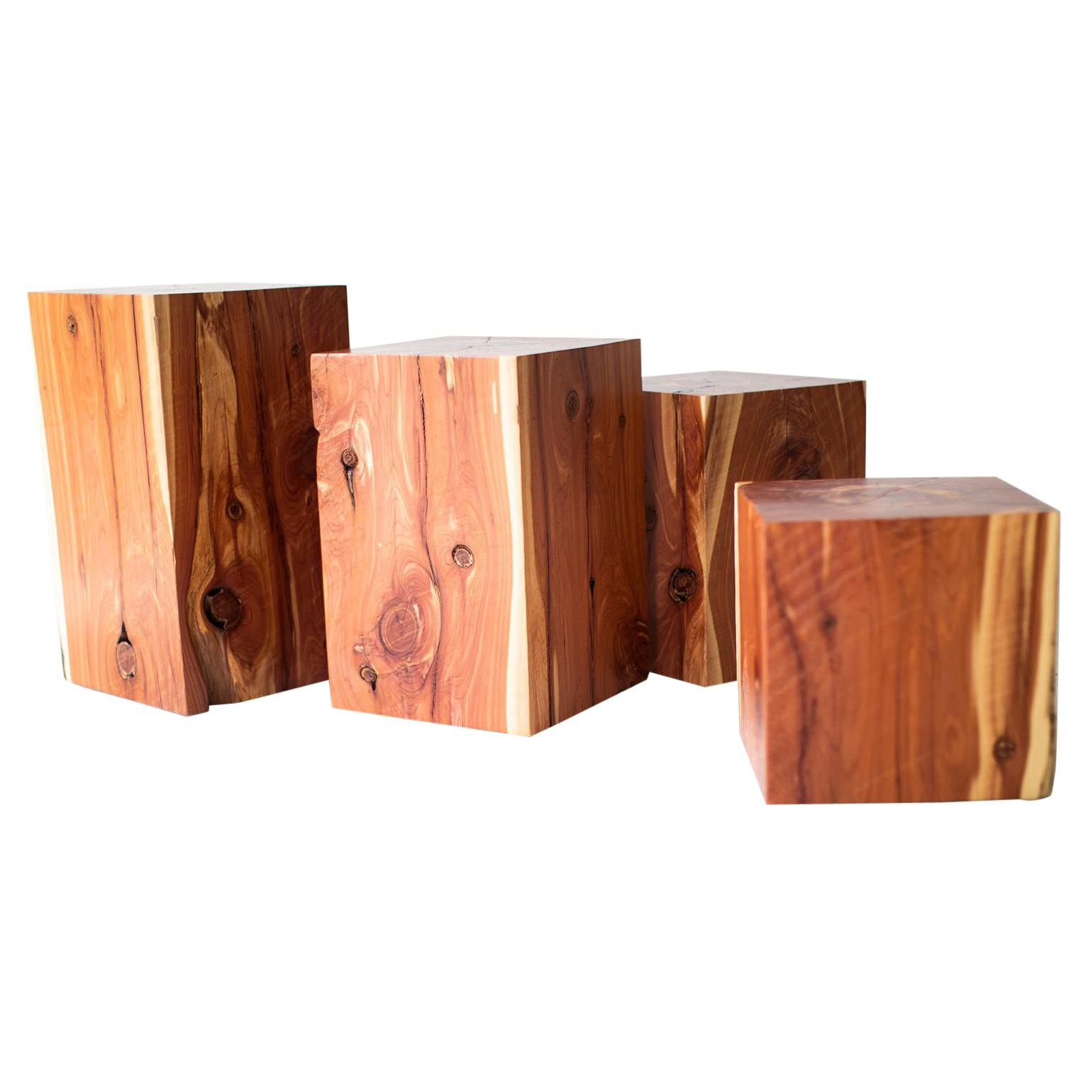 Outdoor Wood Side Table