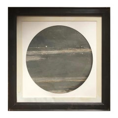 "Outer Space Moonscape China Extraordinary Natural Stone ""Painting"" One of a Kind"