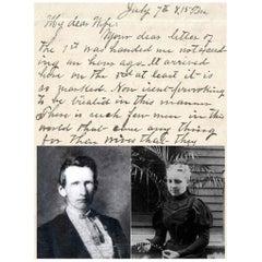 Outlaw Frank James Original 1883 Handwritten Letter on Paper