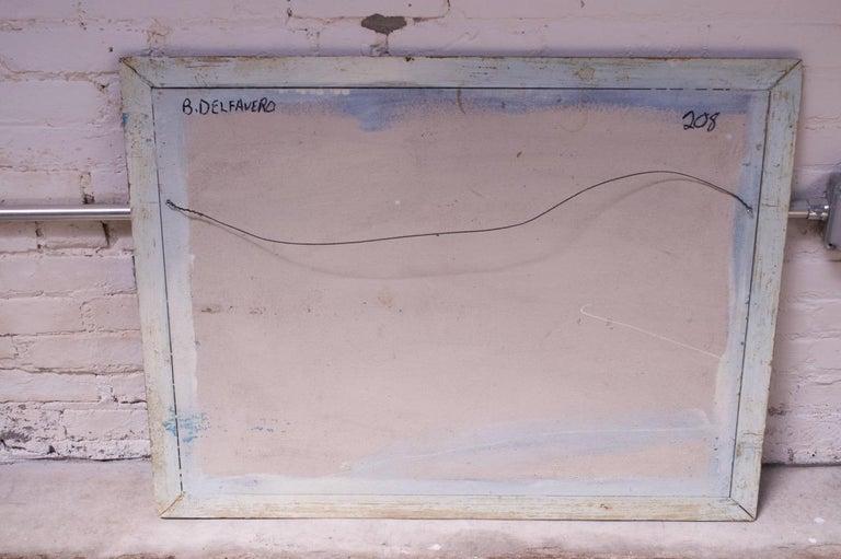 American Outsider Art Seascape Oil on Panel by Bruno Del Favero For Sale