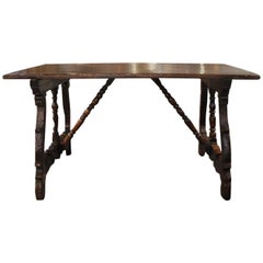Outstanding 17th Century Italian Walnut Writing Table