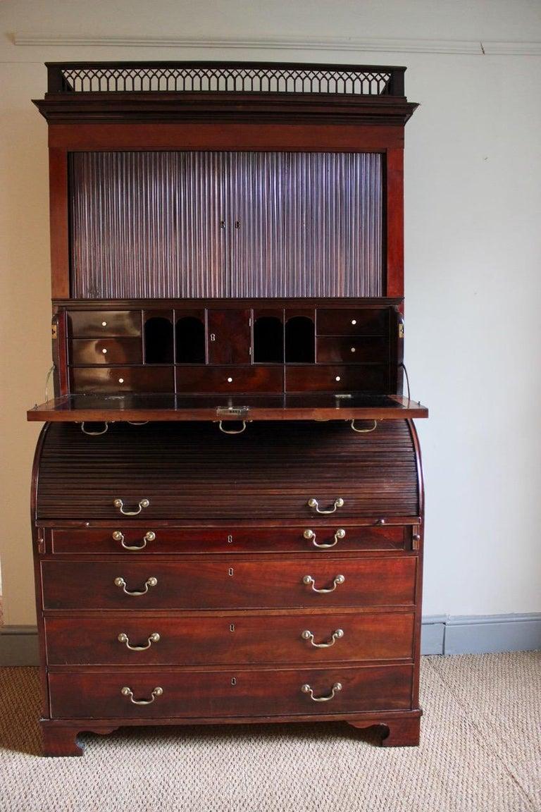 Outstanding 18th Century Danish Louis XVI Mahogany Bureau For Sale 2