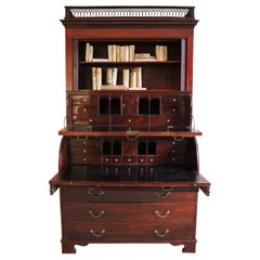 Outstanding 18th Century Danish Louis XVI Mahogany Bureau