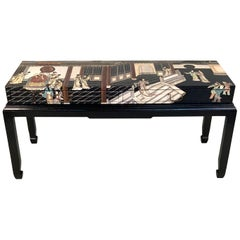 Outstanding 1940s Coromandel Console Table
