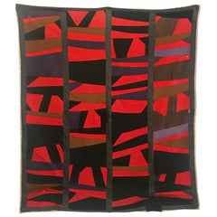 Outstanding African-American Quilt, Mid-20th Century Abstraction
