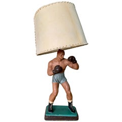Outstanding Antique Boxer Table Lamp
