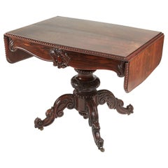 Outstanding Antique Victorian Carved Rosewood Sofa Table