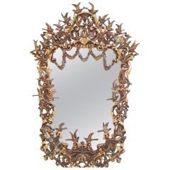 Outstanding, circa 1900 Spanish Carved Mirror