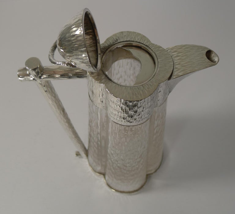 English Outstanding Claret Jug in the Manner of Christopher Dresser, 1893 For Sale