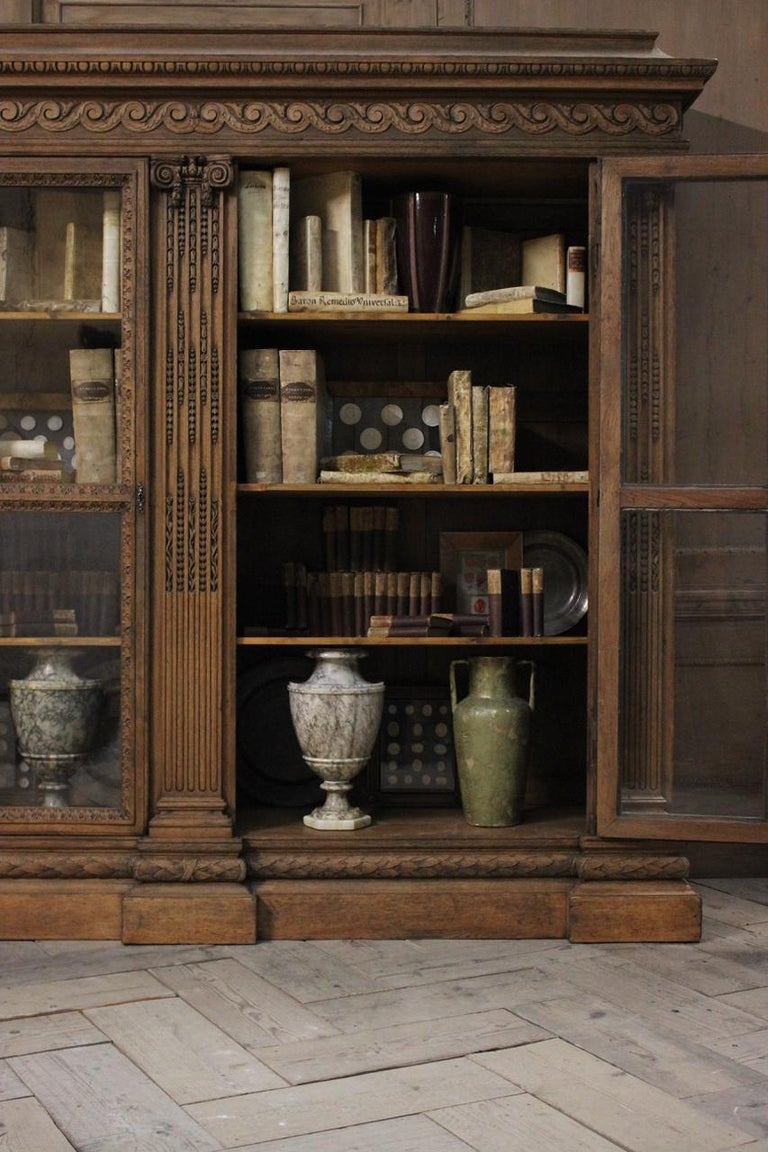 Outstanding Early 19th Century French Classical Bookcase For Sale 1