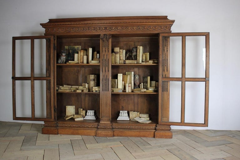 Outstanding Early 19th Century French Classical Bookcase For Sale 2