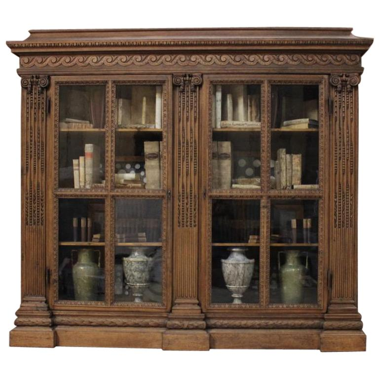 Outstanding Early 19th Century French Classical Bookcase For Sale
