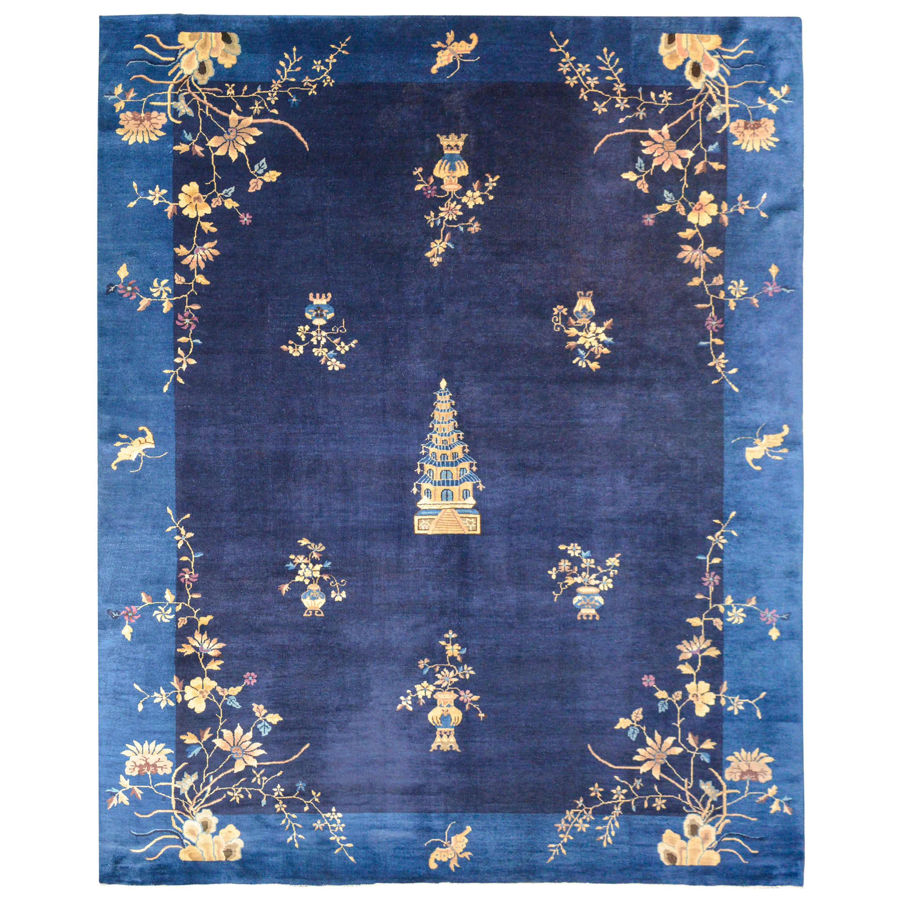 Outstanding Early 20th Century Chinese Art Deco Rug
