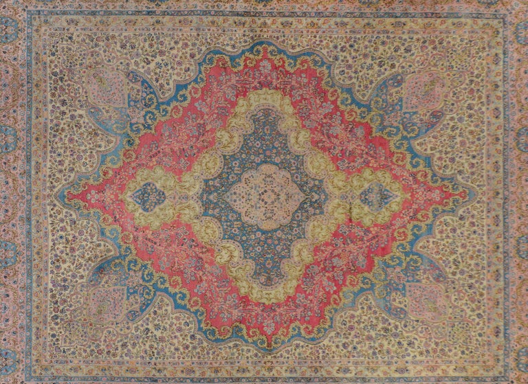 Persian Outstanding Early 20th Century Kirman Rug For Sale