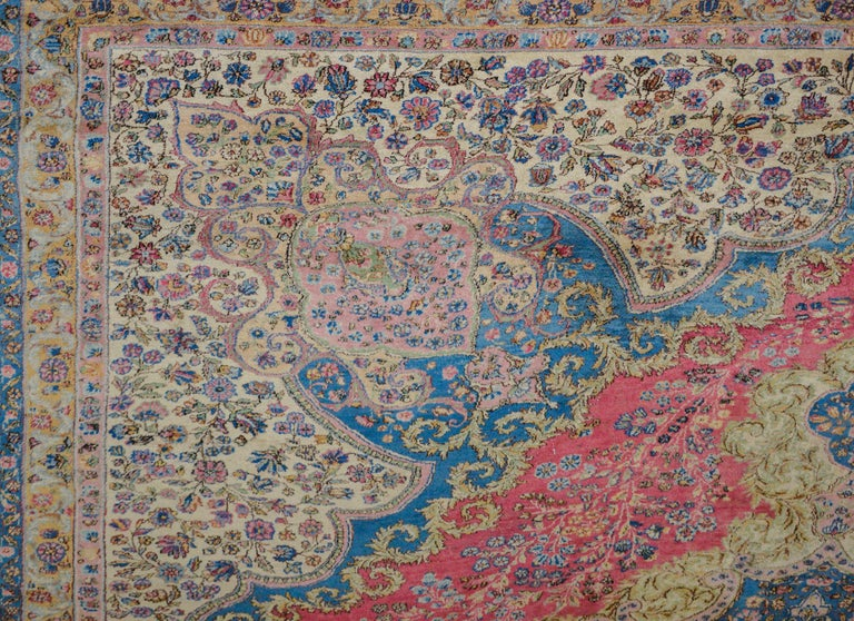 Vegetable Dyed Outstanding Early 20th Century Kirman Rug For Sale