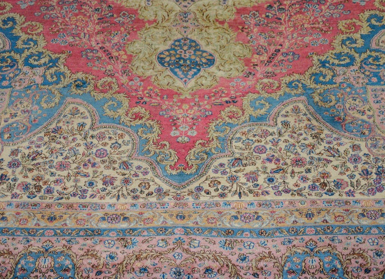 Wool Outstanding Early 20th Century Kirman Rug For Sale