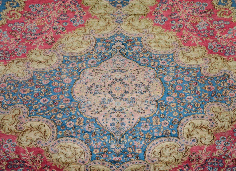 Outstanding Early 20th Century Kirman Rug For Sale 1