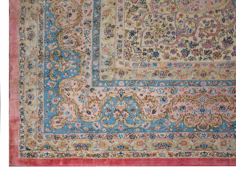 Outstanding Early 20th Century Kirman Rug For Sale 3