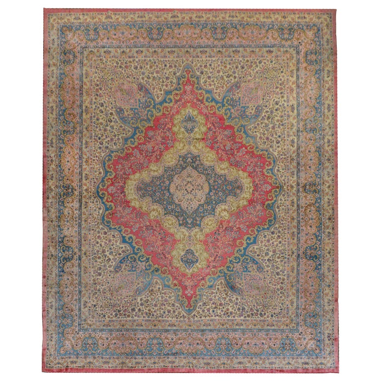 Outstanding Early 20th Century Kirman Rug For Sale
