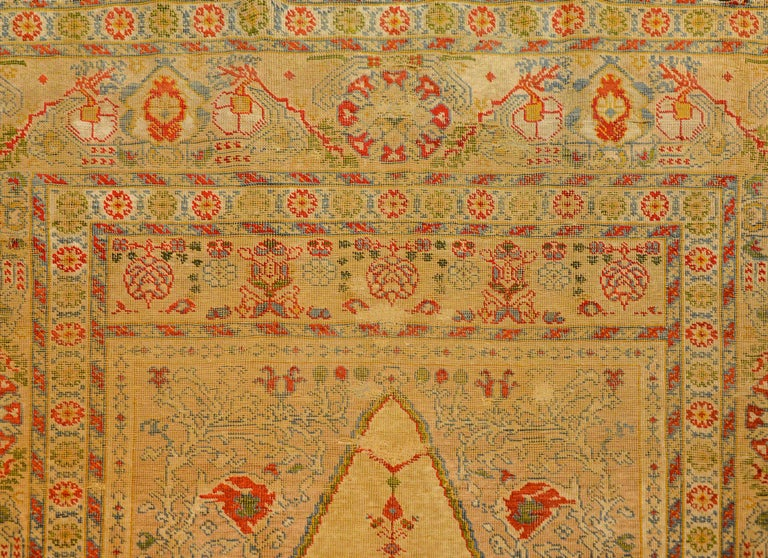 Outstanding Early 20th Century Turkish Silk Prayer Rug For Sale 2