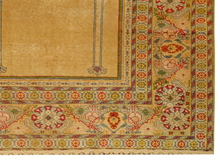 Outstanding Early 20th Century Turkish Silk Prayer Rug For Sale 3
