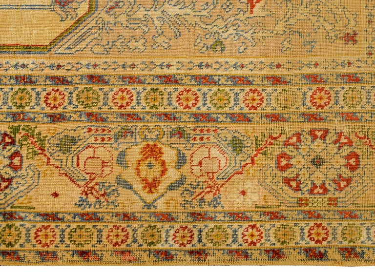 Outstanding Early 20th Century Turkish Silk Prayer Rug For Sale 4