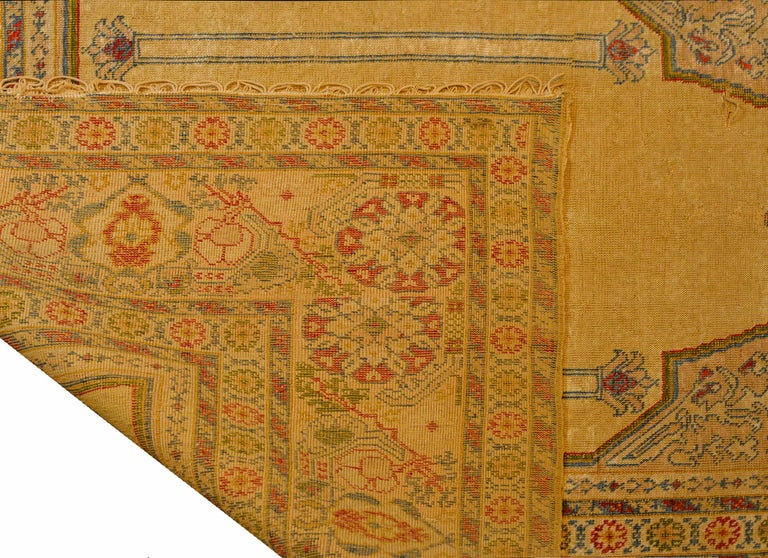 Outstanding Early 20th Century Turkish Silk Prayer Rug For Sale 6