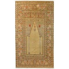Outstanding Early 20th Century Turkish Silk Prayer Rug