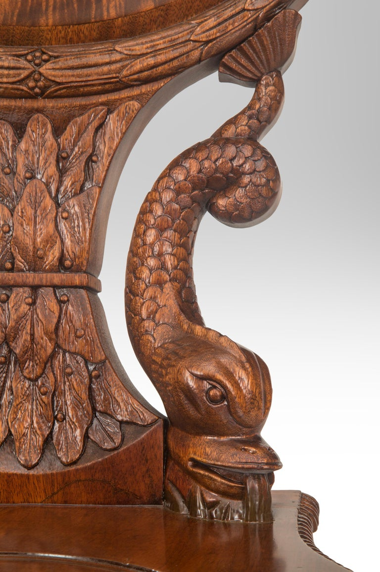 Outstanding English Regency Mahogany Hall Chair For Sale 3