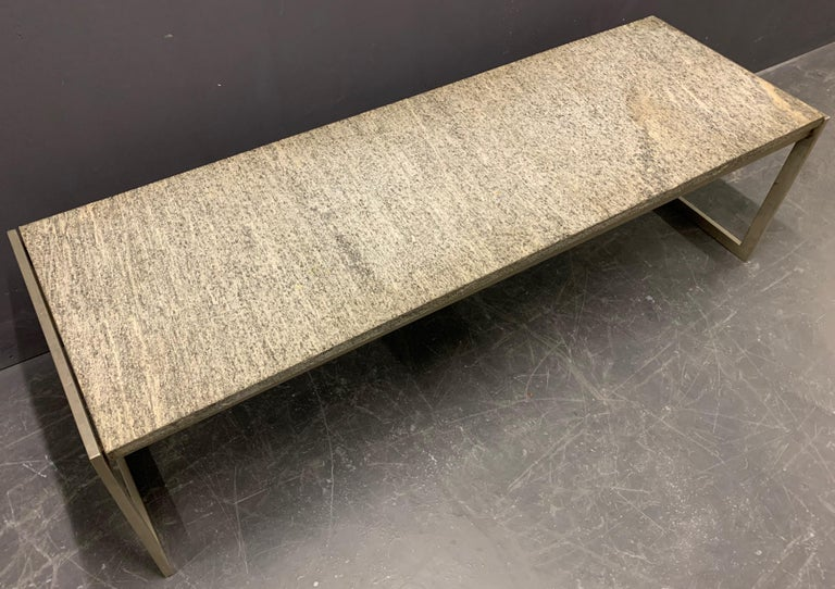 Outstanding Flint Rolled Marble Coffee Table or Bench For Sale 5