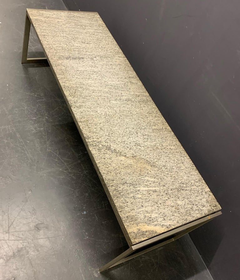 Outstanding Flint Rolled Marble Coffee Table or Bench For Sale 7