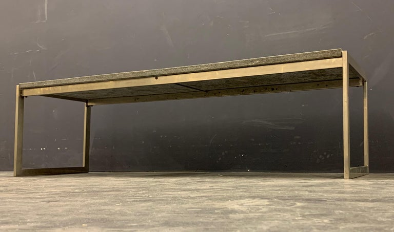 Outstanding Flint Rolled Marble Coffee Table or Bench For Sale 8