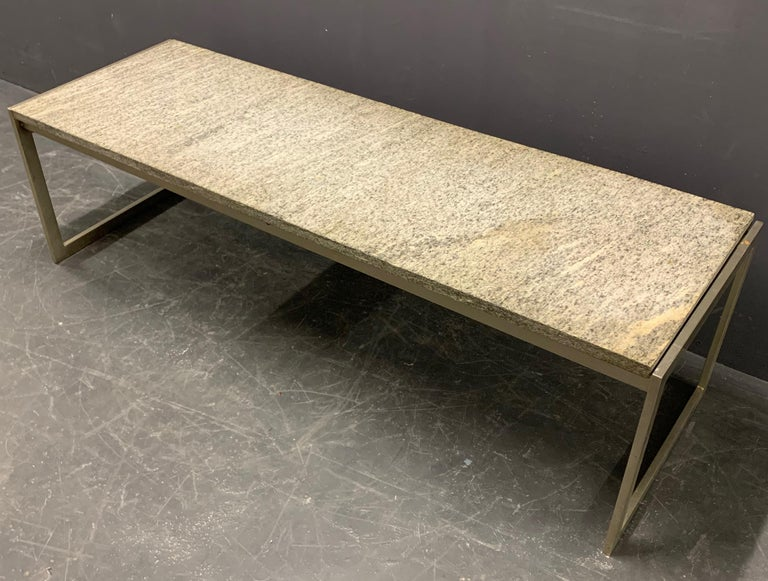 Outstanding Flint Rolled Marble Coffee Table or Bench For Sale 9