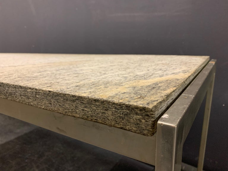 Unknown Outstanding Flint Rolled Marble Coffee Table or Bench For Sale