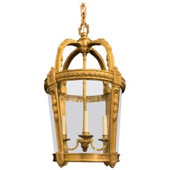 Outstanding French Dore Bronze Filigree Louis XV Lantern Chandelier Fixture