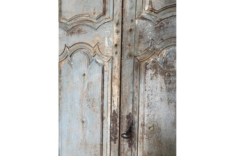Outstanding French Louis XIV Period Painted Armoire 9