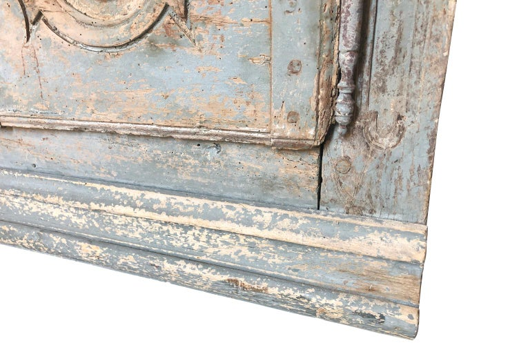 Outstanding French Louis XIV Period Painted Armoire 3