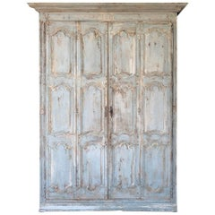 Outstanding French Louis XIV Period Painted Armoire