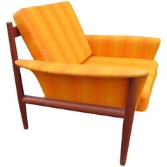 Outstanding Grete Jalk Teak Lounge Chair, Midcentury Danish Modern
