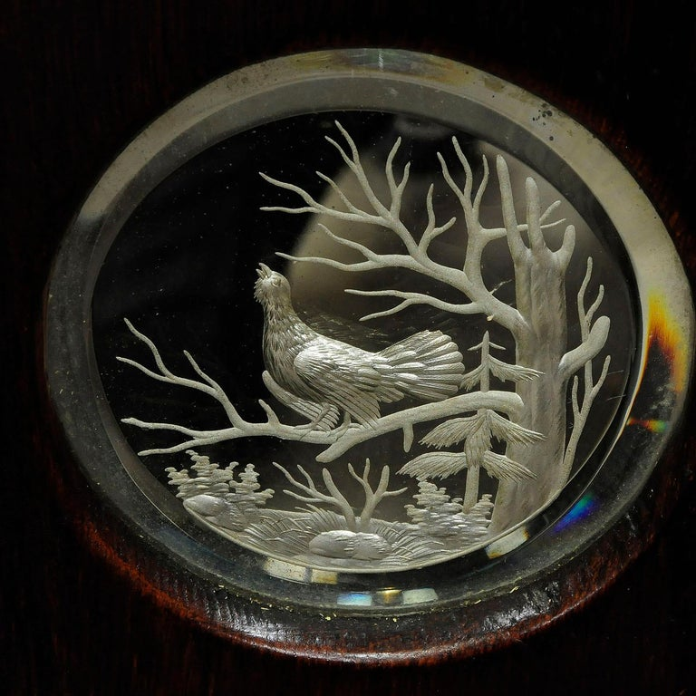 20th Century Outstanding Hunting Wall Mirror with Trophies, circa 1910 For Sale