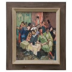 Outstanding Impressionist Oil Painting, circa 1940s