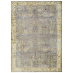 Outstanding Large Oushak in Light Purple and Gray with Willow Tree Design