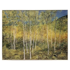 """Outstanding Large Scale """"Birch Forest"""" Original Painting by Kirchgessner"""