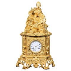 Outstanding Late 19th Century Gilt Bronze Mantle Clock by Dagrin and Philippe